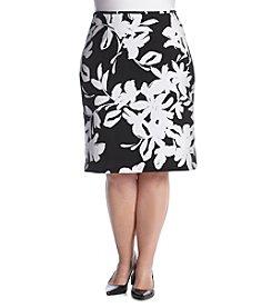 Calvin Klein Plus Size Floral Print Skirt