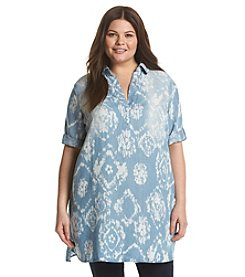 Chelsea & Theodore® Plus Size Chambray Tunic
