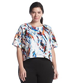 Chelsea & Theodore® Plus Size Printed Scuba Top