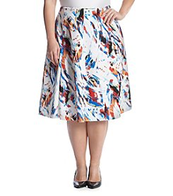 Chelsea & Theodore® Plus Size Printed Scuba Skirt
