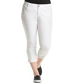 Democracy Plus Size Solid Crop Jeans