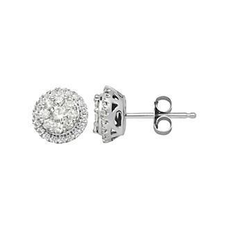 .50 ct. t.w. Diamond Earrings in 10K White Gold