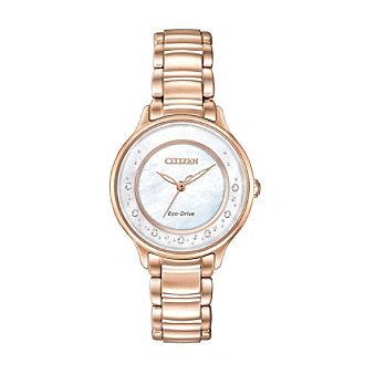 Citizen® Women's L Circle of Time Rose Goldtone Bracelet