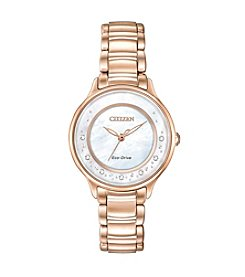 Citizen® Women's L Circle of Time Rose Goldtone Bracelet Watch