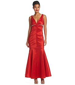 Xscape Taffeta Ruched Gown