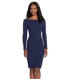 Lauren Ralph Lauren® Petites' Striped Lace-Up Sweater Dress