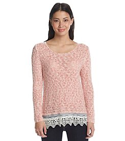 Fever™ Lace Detail Sweater