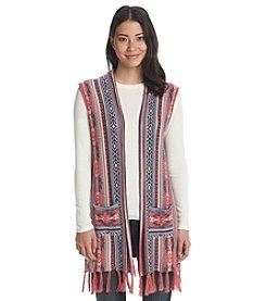 Ruff Hewn Fair Isle Print Cardigan Vest