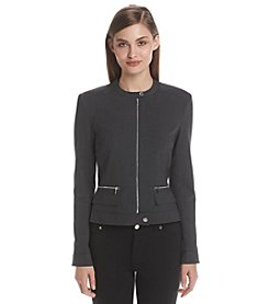 Calvin Klein Collarless Center Zip Jacket