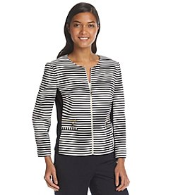 Ivanka Trump® Striped Collarless Jacket
