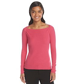 Anne Klein® Button Shoulder Sweater