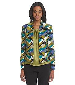 Kasper® Printed Twill Jacket