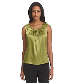 Kasper® Solid Pleatneck Cami
