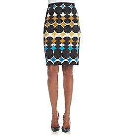 Nine West® Circle Print Ponte Skirt