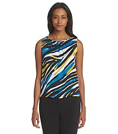 Nine West® Printed Pleatneck Cami