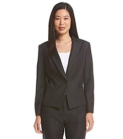 Nine West® One Button Notch Lapel Jacket