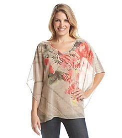 Laura Ashley® Floral Print Poncho