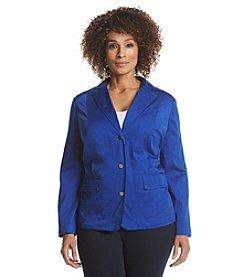 Laura Ashley® Plus Size Button Front Jacket