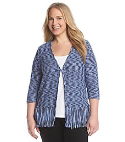 Laura Ashley® Plus Size Space Dye Cardigan