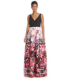 Adrianna Papell® Floral Gown With Black Bodice