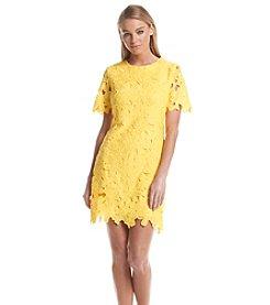 Calvin Klein Lace Shift Shirt Dress