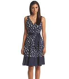 Nine West® Dot Printed Fit And Flare Dress