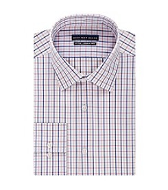 Geoffrey Beene® Men's Fitted Multi Check Print Spread Collar Dress Shirt