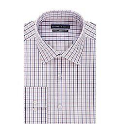 Geoffrey Beene® Men's Fitted Multi Check Print Spread Collar Dress Shirt