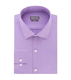 Kenneth Cole REACTION® Men's Slim Fit Satin Spread Collar Dress Shirt