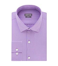 Kenneth Cole REACTION® Men's Slim Fit Satin Spread Collar Dress Shirt