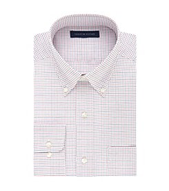 Tommy Hilfiger® Men's Regular Fit Multi Check Print Button Down Collar Dress Shirt