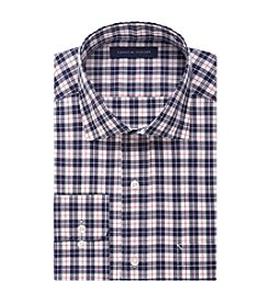 Tommy Hilfiger® Men's Regular Fit Check Print Spread Collar Dress Shirt