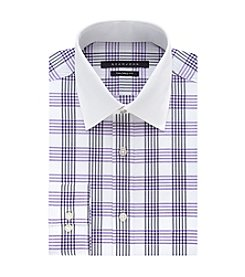 Sean John® Men's Regular Fit Plaid Spread Collar Dress Shirt