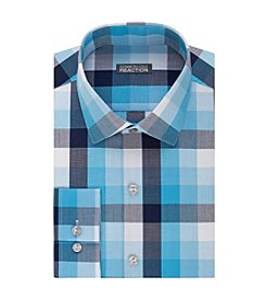 Kenneth Cole REACTION® Men's Slim Fit Check Patterned Dress Shirt