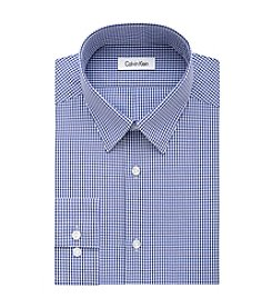 Calvin Klein Steel Men's Slim Fit Check Patterned Dress Shirt