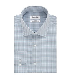 Calvin Klein Men's Regular Fit Check Pattern Dress Shirt