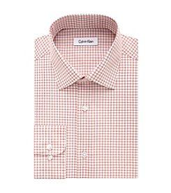 Calvin Klein Men's Regular Fit Grid Pattern Dress Shirt