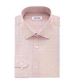 Calvin Klein Men's Regular Fit Grid Pattern Dress Shirt