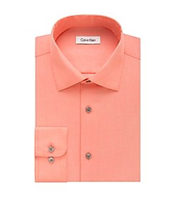 Calvin Klein Men's Regular Fit Solid Dress Shirt