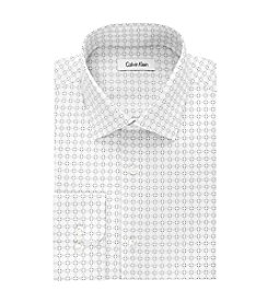 Calvin Klein Men's Regular Fit Circle Print Dress Shirt