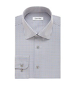 Calvin Klein Men's Regular Fit Gingham Dress Shirt