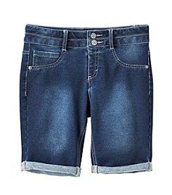 Miss Attitude Girls' 7-16 2-Button Bermuda Shorts