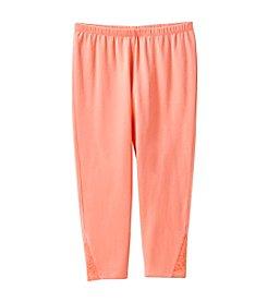 Miss Attitude Girls' 7-16 Lace Capri Leggings