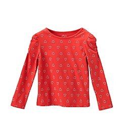 Little Miss Attitude Girls' 2T-6X Candy Cane Heart Printed Tee