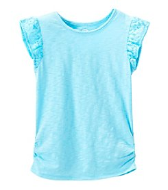 mix&MATCH Girls' 4-6X Lace Flutter Sleeve Tee