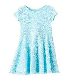 Little Miss Attitude Girls' 2T-6 Lace Dress