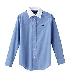 Lauren Ralph Lauren Boys' 8-20 Long Sleeve Checkered Woven Top