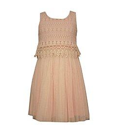 Bonnie Jean® Girls' 7-16 Crochet Popover Mesh Dress