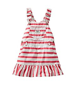 OshKosh B'Gosh® Baby Girls' 12-24 Month Striped Denim Jumper
