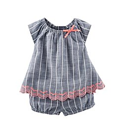 OshKosh B'Gosh® Baby Girls' 3-24M Two-Piece Striped Babydoll Set